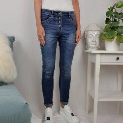 Jewelly Damen Stretch Jeans| Boyfriend Hose mit...