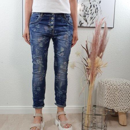 Flower Print Jeans von Karostar