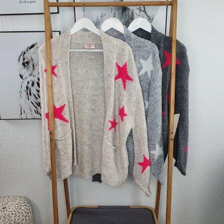 Strick Jacke mit Sternen
