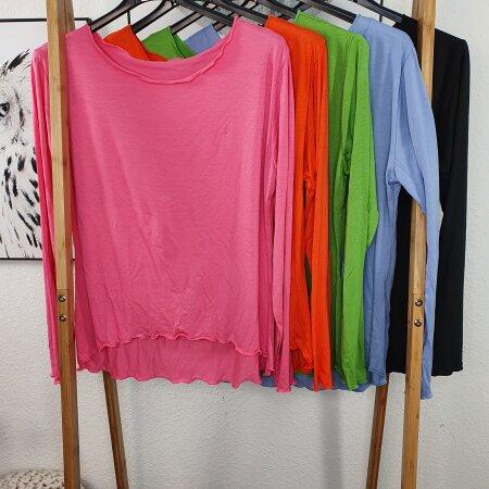 Viskose Stretch Shirt - Basic Longsleeve
