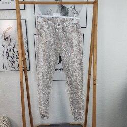 Skinny Jeans White Snake