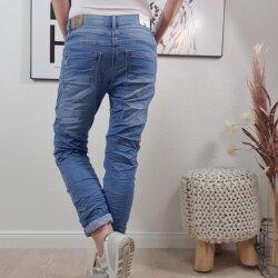 Sweat Denim Boyfriend Jeans von M- 4XL