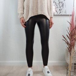 Fake Leather Leggings mit Taschen