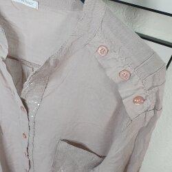 Langarm Bluse mit Pailletten