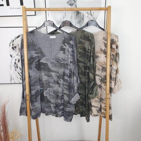 Camouflage Strick Longsleeve