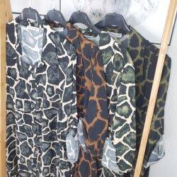 Animal Print Long Bluse