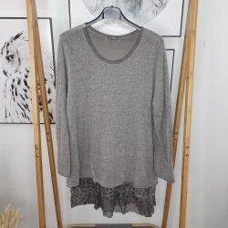 Layer Strick Shirt mit Volants