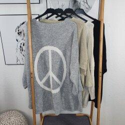 Vokuhila oversized Pullover PEACE
