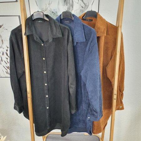 Oversized Cord Hemd Bluse
