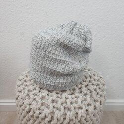 Strick Mütze- mit Fleece gefüttert