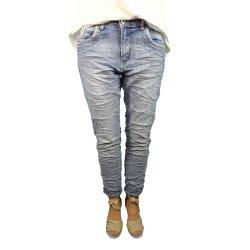 Karostar Stretch Baggy Boyfriend Jeans Nieten Seitenstreifen