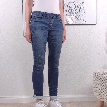 Buena Vista Damen Jeans Malibu Hose Jogghose Joggpants Sweat Denim