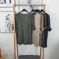 Italy Fashion Longsleeve -leichter Pullover