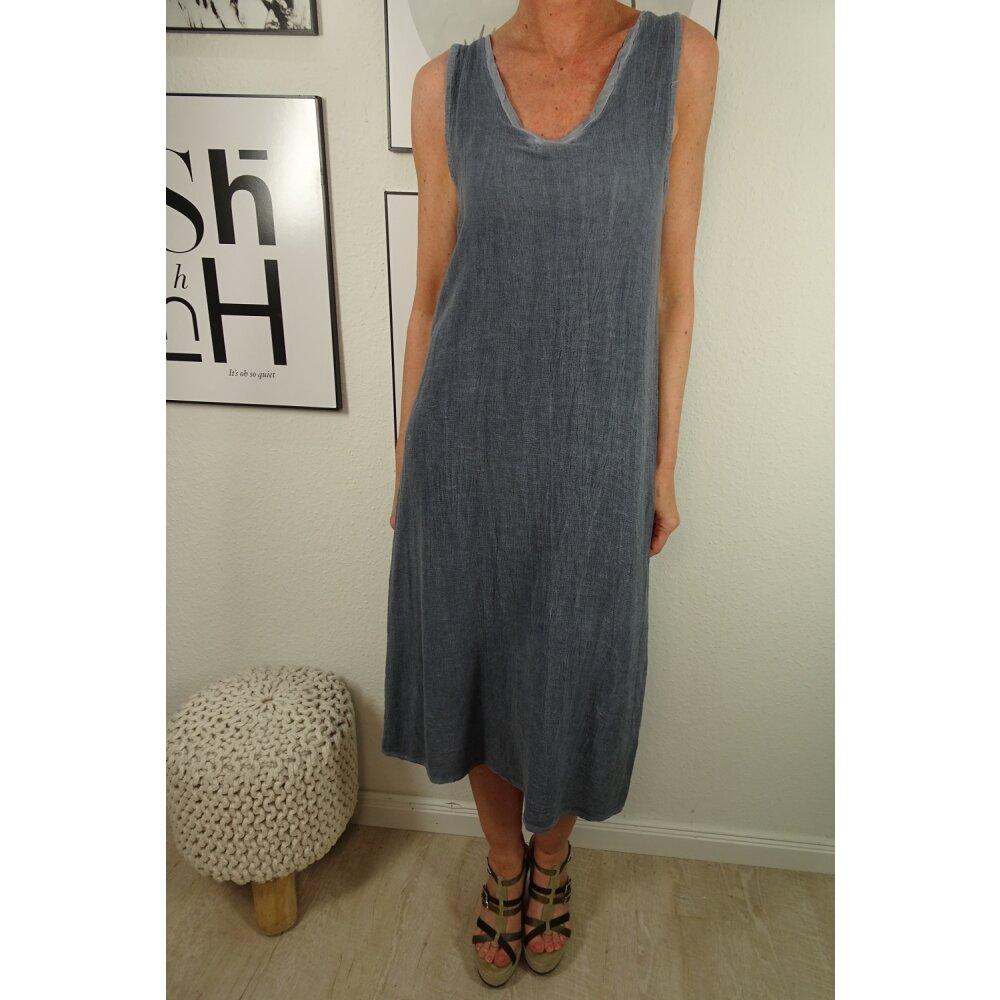 Italy Fashion Träger Kleid  Sommer Kleid in Midi Länge mit ...