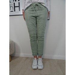 Karostar Damen  Jeans| lange Jeans Hose aus weichem Sweat Denim| Schlupfhose aus Jogg Stoff | athleisure Pants
