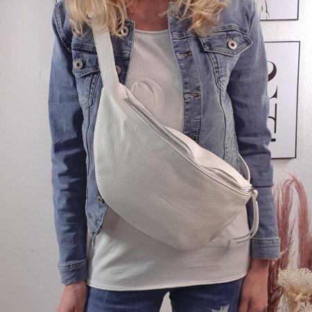Italy borse in pelle echt Leder Damen Handtasche crossover Body Bag Mittelgroß|