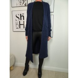 Italy Fashion langer Strickmantel offener Cardigan Strickjacke