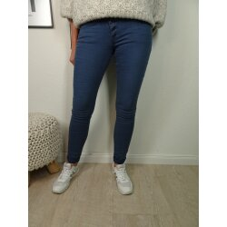 Buena Vista Malibu   Damen Jeans Hose in coloured Denim   Stretch Denim Pants mit dekorativer Knopfleiste kornblume