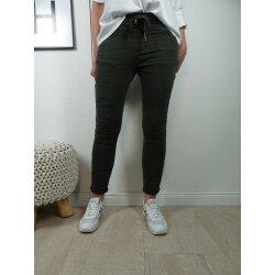 Jewelly Damen | lange Jeans Hose aus weichem Sweat Denim|...
