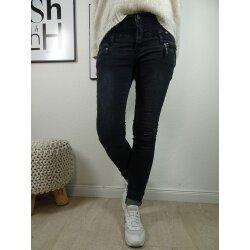 Buena Vista Florida | Damen Jeans Hose in coloured Denim | Stretch Denim Pants mit gedoppelten Gürtelschlaufen