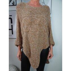 Italy  Fashion Damen Strick Pullover| asymmetrischer...