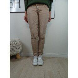 Buena Vista Malibu Damen Jeans Hose in coloured Denim  Stretch Denim Pants mit Knopfleiste
