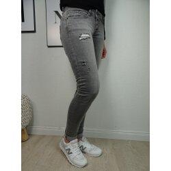 Buena Vista Malibu Damen Jeans Hose in coloured Denim Stretch Pants mit Knopfleiste