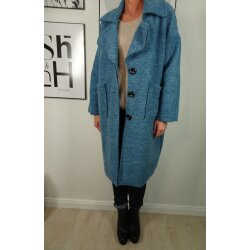 Italy Fashion oversized Mantel mit Wolle Wollfilz Trenchcoat Übergangsjacke Wintermantel aus Walkwolle