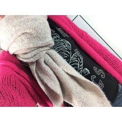 Kuschelwolle Damen XXL Winter asymmetrischer Schal Stola Halstuch einfarbig
