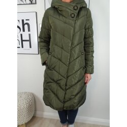 Italy Fashion Damen Stepp Winter Jacke Mantel warm gefüttert mit Kapuze