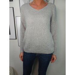 Italy Fashion Strick Pullover Winter Sweater mit V-Ausschnitt