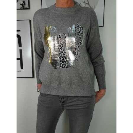Italy Fashion Strick Pullover Winter Sweater mit Mickey Print