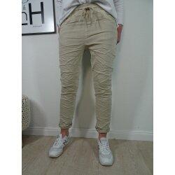 Karostar Damen  Jeans| lange Jeans Hose aus weichem Sweat...