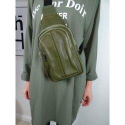 Italy borse in pelle echt Leder Damen Body Bag Rucksack crossover Handtasche