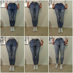 Jewelly Stretch Jeans| im baggy boyfriend Schnitt| Damen Hose mit Knopfleiste