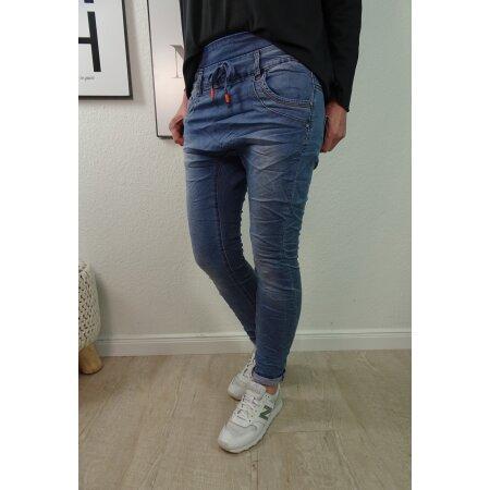 Jogger Jeans - Haremshose aus Sweat Denim