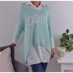 Vokuhila Pullover NICE One Size mint