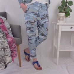Sweat Hose in Camouflage Muster- Schlupfhose in vielen Farben
