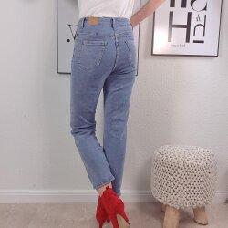 Cropped High Waiste Jeans- Straight Leg