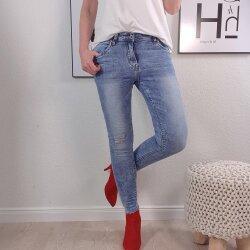Skinny Jeans Fringe Bottems