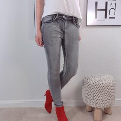 Sknny stretch Jeans- used Look Clean Grey