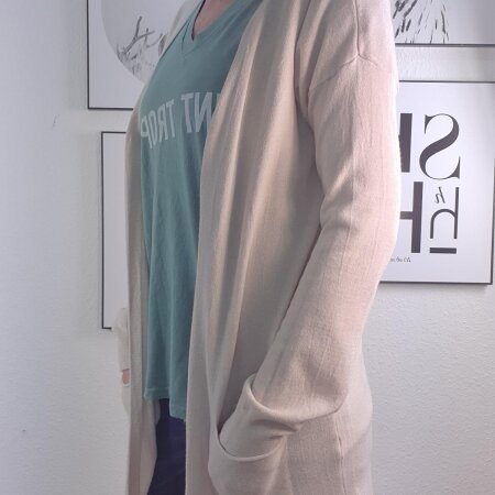 Basic Long Cardigan-lange Strickjacke