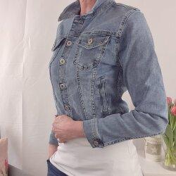 Kurze Stretch Jeans Jacke