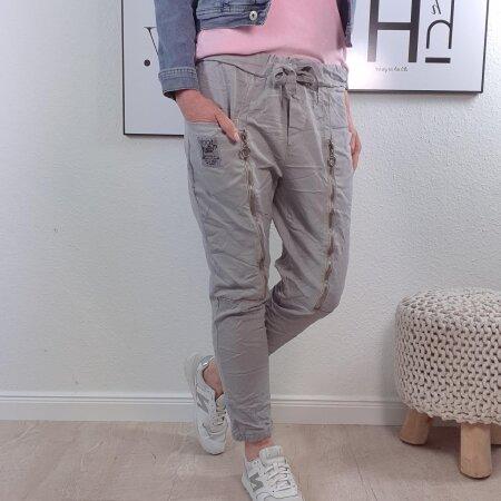 Sweat Pants mit dekoratviven Zippern- Freizeithose in vielen Farben