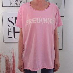 Maxi Shirt FREU(N)DE- Vokuhila Schnitt