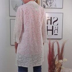 Romantische lange Boho embroidery Bluse