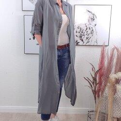 XXL Maxi Hemdbluse One Size Grau