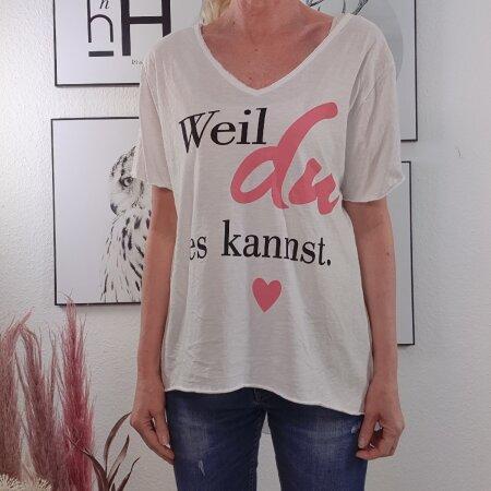 Vokuhila Shirt- Weil Du es kannst