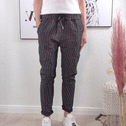 Gestreifte Schlupfhose- lockere Sweat Pants