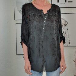 Embroidery Blusenshirt mit Pailletten und passendem Top